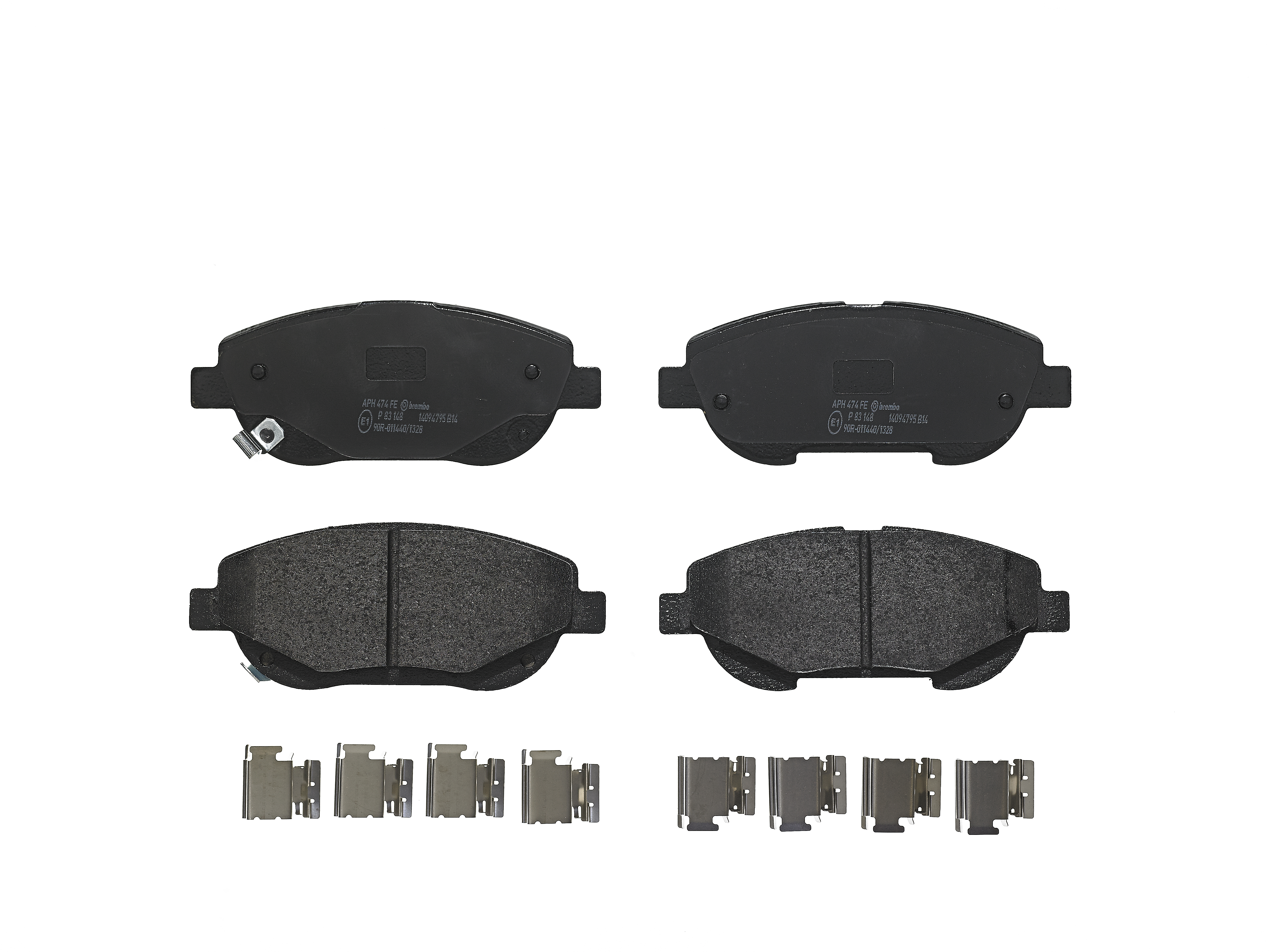 p 83 148 BremboPlaquettes de freins avec accessoires avant scheibenbremsbelagsatz