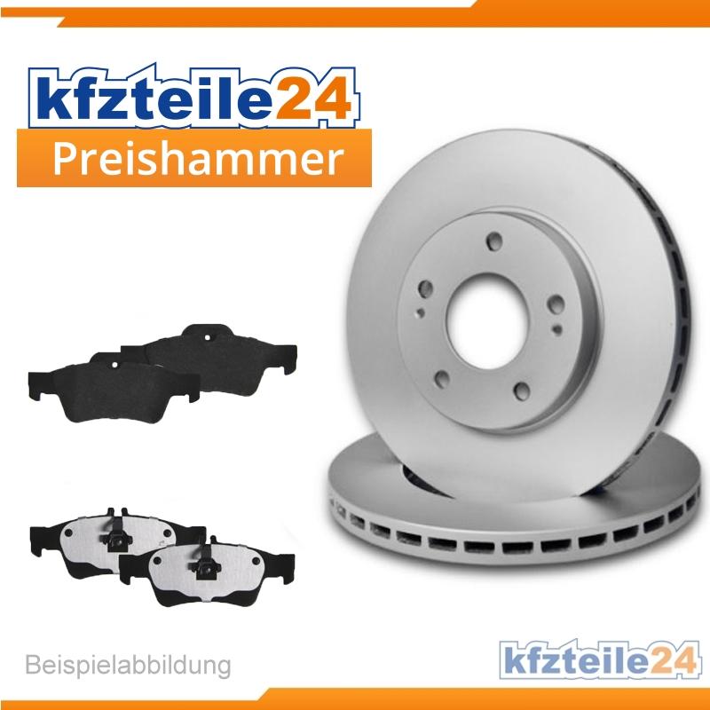 Bremsbeläge Hinten u.a für Nissan Brembo2 Bremsscheiben Voll 258 mm