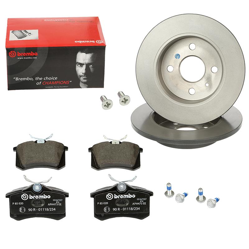 Bremsbeläge Vorne u.a für MERCEDES-BENZ Bremsen-Set Brembo2 Bremsscheiben