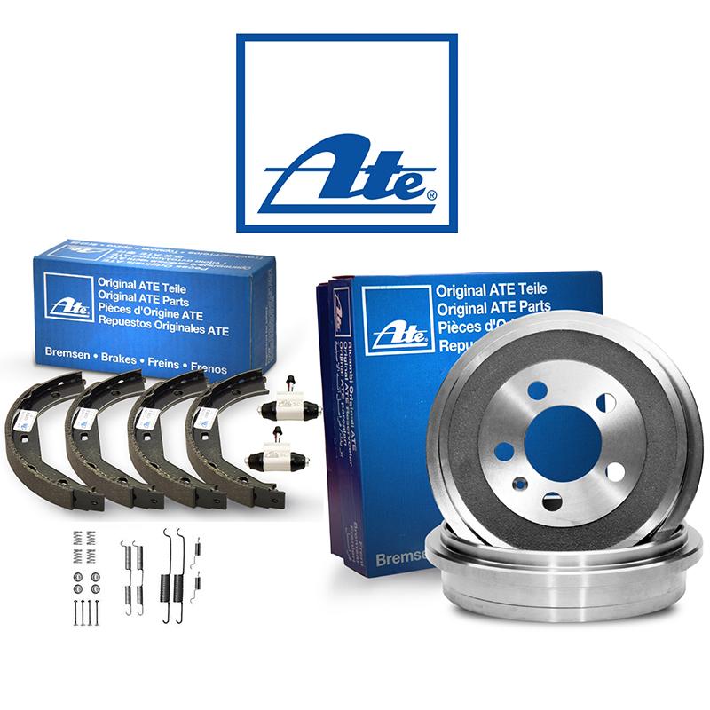 ATEOriginal 2 Bremstrommeln Bremsbackensatz Hinten u.a für Opel