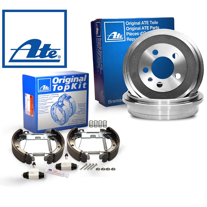 für Audi ATEOriginal 2 Bremstrommeln Bremsbackensatz Hinten u.a