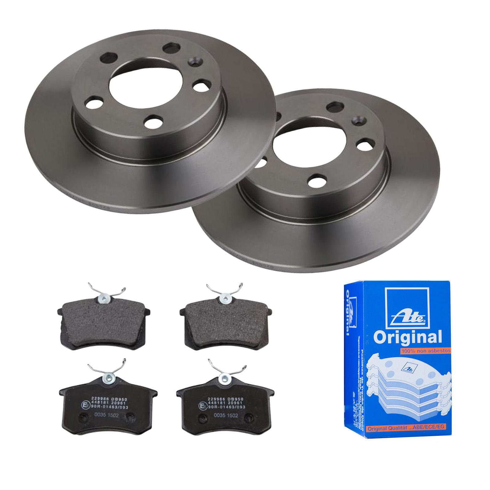 UAT2 disques de frein 230 mm Plein Plaquette de frein arrière pour VWAudiSkodaSeat