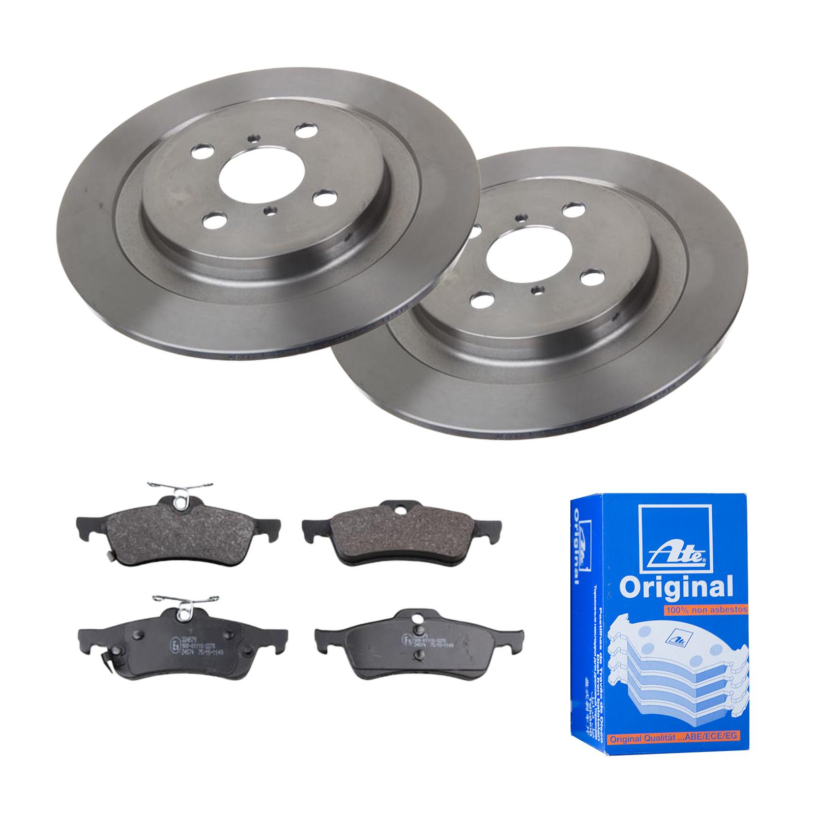 Bremsbeläge Vorne u.a für VW Bremsen-Set ATE2 Bremsscheiben Voll 278 mm