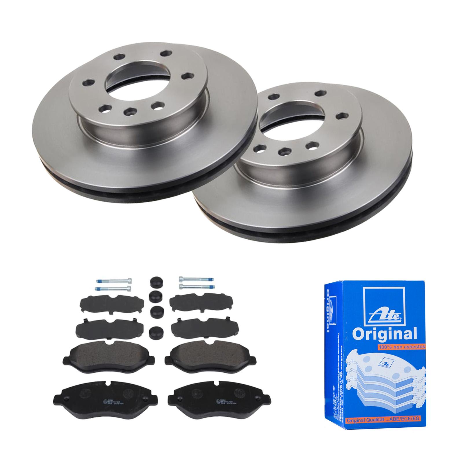 Bremsbeläge Vorne für VW Bremsensatz, ATE2 Bremsscheiben belüftet 256 mm