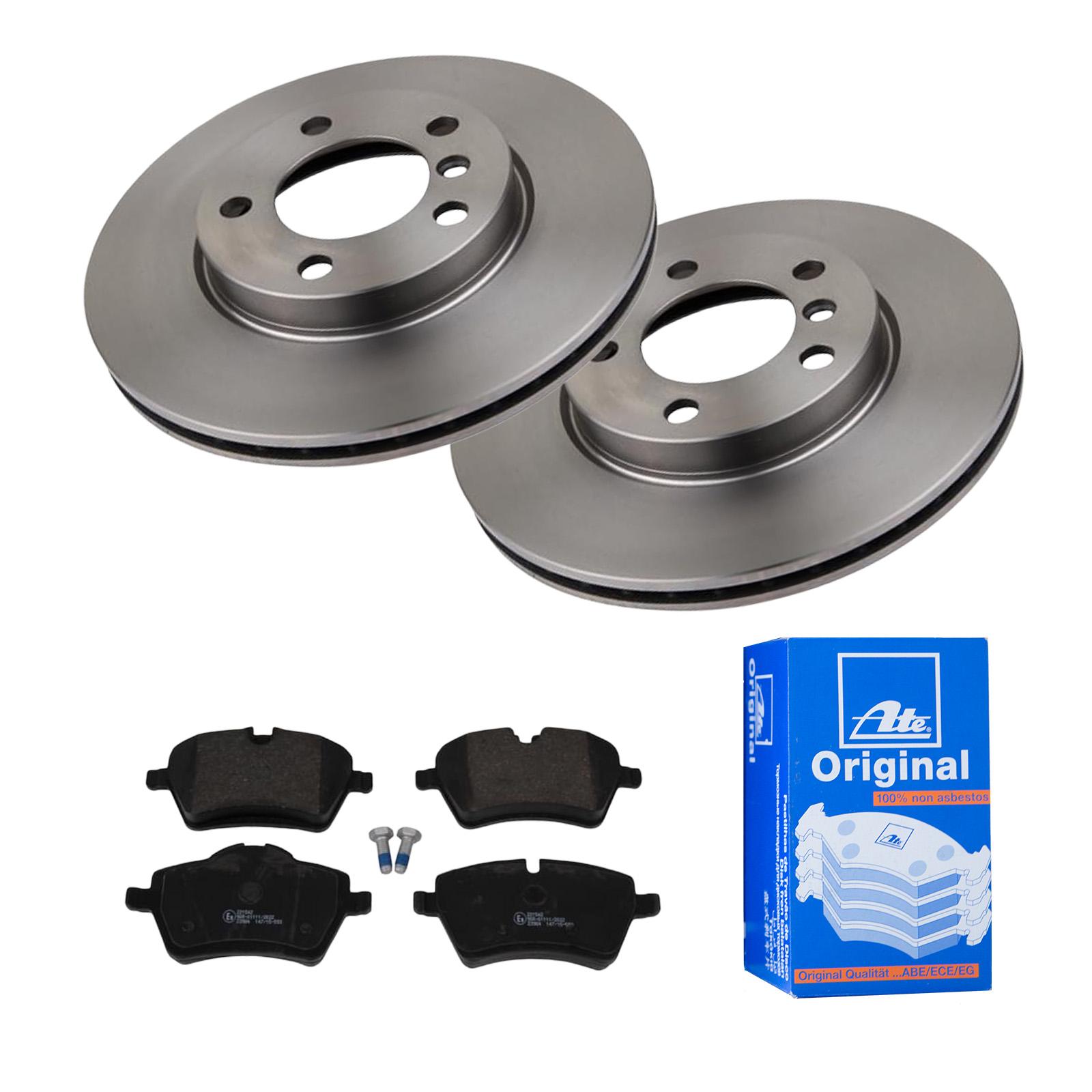 Bremsbeläge Vorne für MINI Bremsensatz, ATE2 Bremsscheiben Belüftet 294 mm