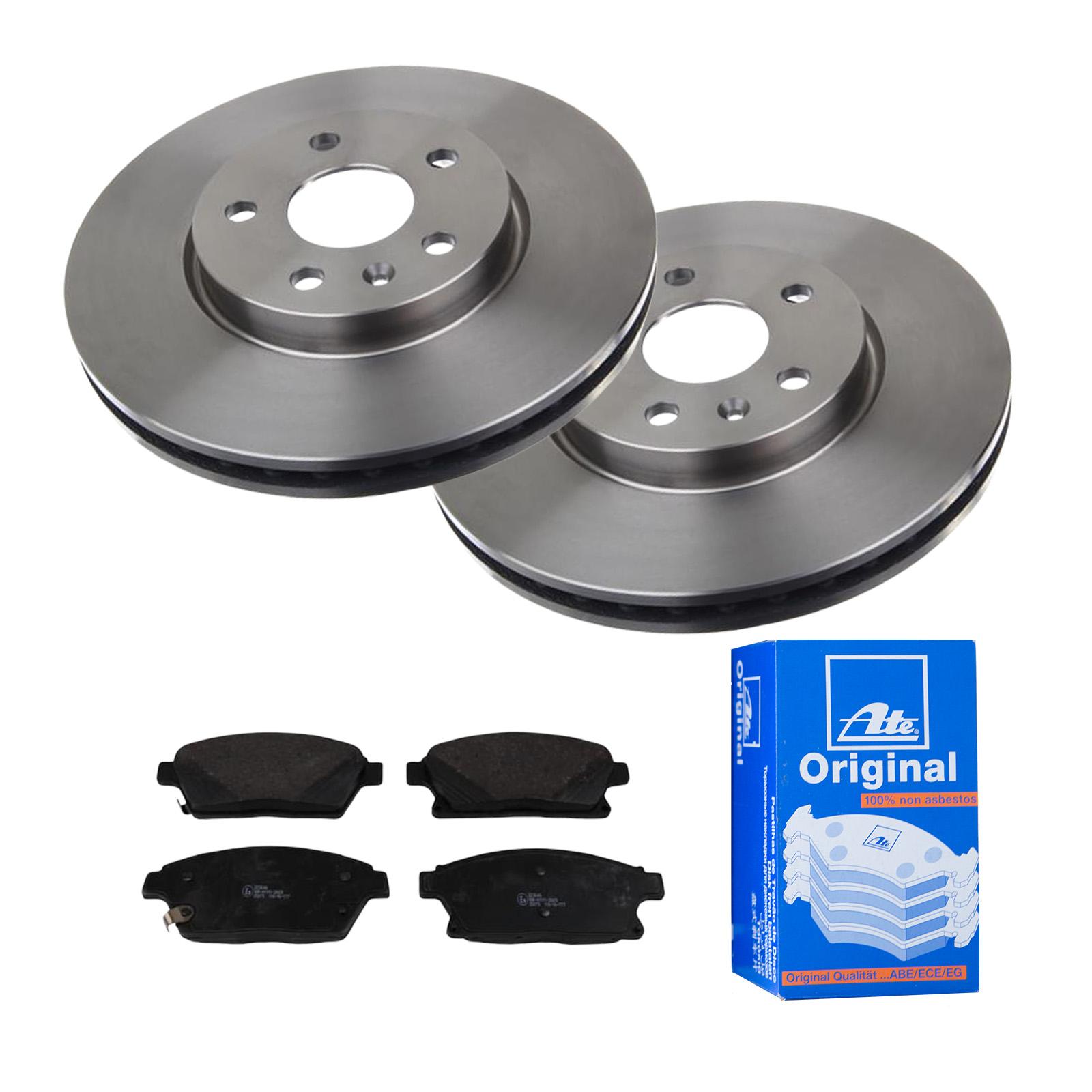 Bremsbeläge Vorne Bremsen-Set ATE2 Bremsscheiben Belüftet 321 mm