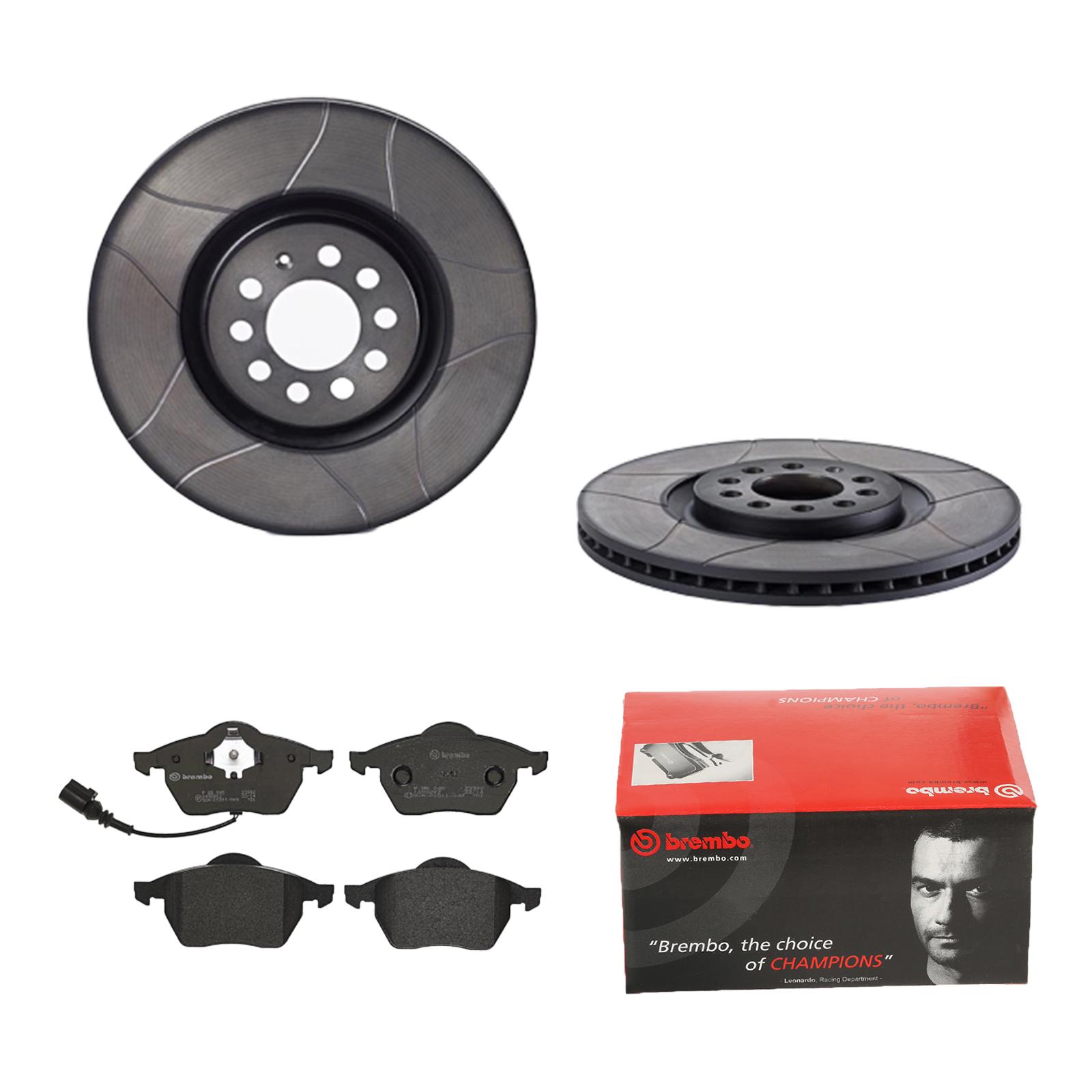 Brembo2 Bremsscheiben Belüftet 256 mm Bremsbeläge Hinten u.a für Audi