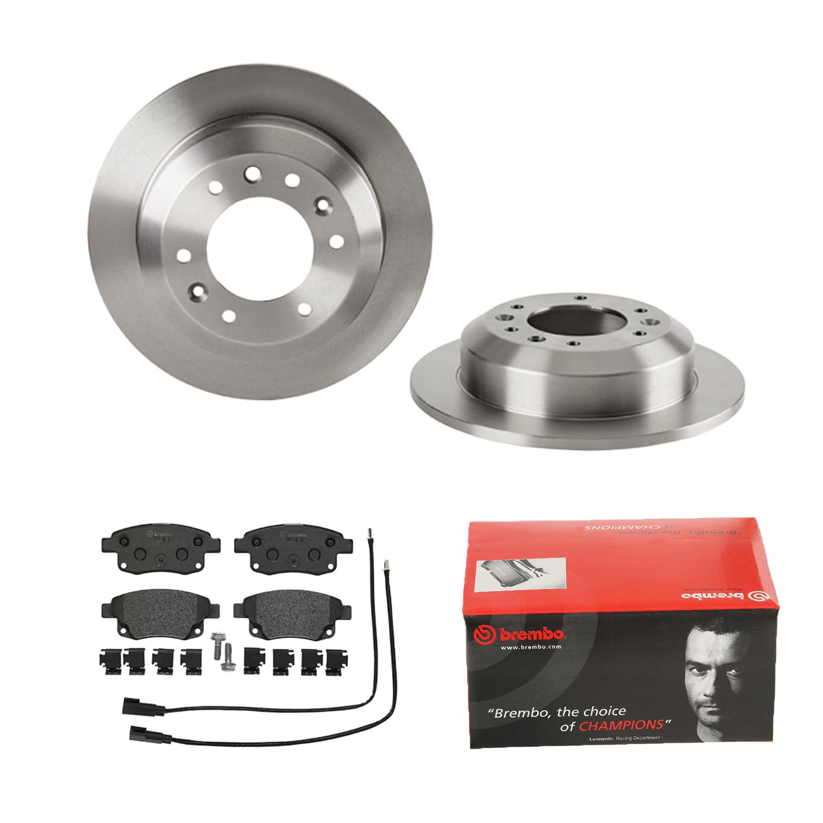 Bremsbeläge Hinten u.a Brembo2 Bremsscheiben Voll 245 mm für Audi