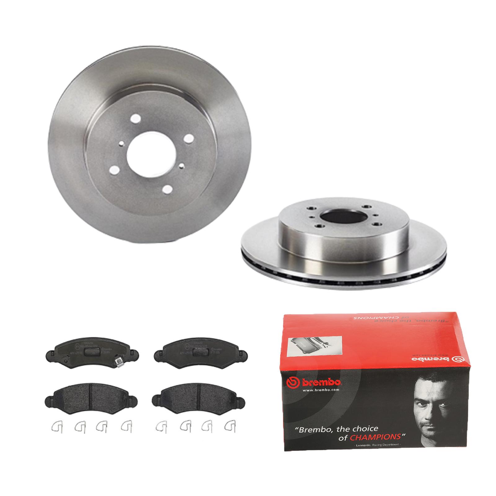 für Volvo Bremsbeläge Hinten u.a Brembo2 Bremsscheiben Voll 260 mm