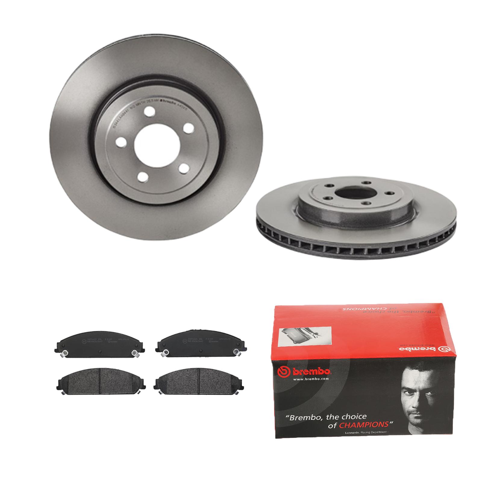 Brembo2 Bremsscheiben Belüftet 300 mm Bremsbeläge Vorne Bremsen-Set