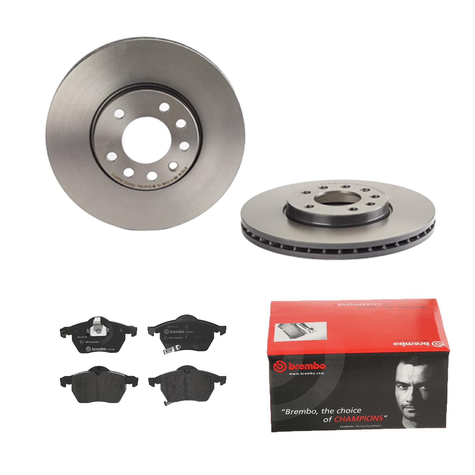Brembo | 2 Bremsscheiben COATED DISC LINE belüftet Ø288 mm + Bremsbeläge vorne